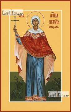Виктория Кулузская, икона на дереве печатная