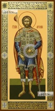 Артемий Антиохийский, икона на дереве печатная