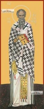 Григорий Армянский (ростовой), икона не дереве печатная