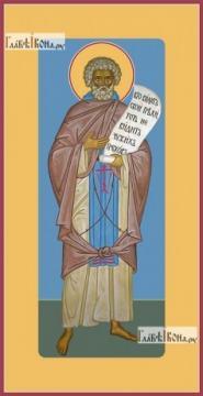 Моисей Мурин, ростовой, печатная на дереве икона