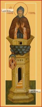 Симеон Столпник, печатная икона