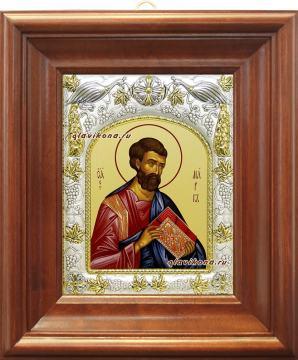 Апостол Марк, икона в ризе, артикул 41462 - вид в киоте