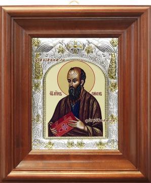 Апостол Павел, икона в ризе, артикул 41461 - вид в киоте