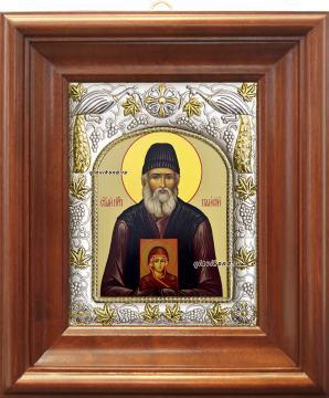 Паисий Святогорец, икона в ризе, артикул 41042 - вид в киоте