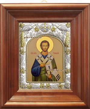 Апостол Тимофей, икона в ризе артикул 41423 - вид в киоте
