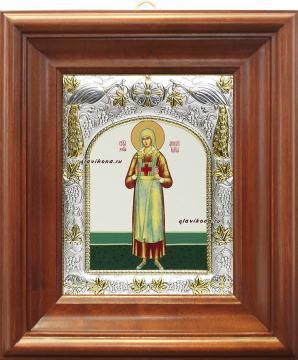 Аполлинария Тупицына, икона в ризе артикул 41067 - вид в киоте