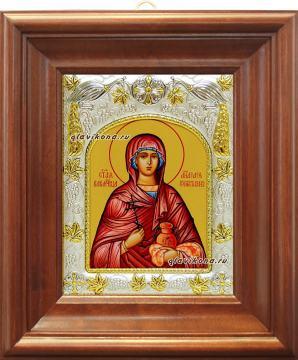 Анастасия Узорешительнца, икона в ризе артикул 41511 - вид в киоте