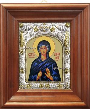 Ангелина Сербская, икона в ризе артикул 41066 - вид в киоте