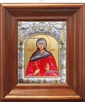 Валерия Кесарийская, икона в ризе артикул 41526 - вид в киоте