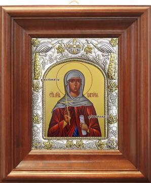 Виктория (Ника) Коринфская, икона в ризе артикул 41002 - вид в киоте