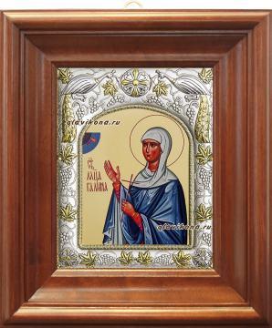 Галина Коринфская, икона в ризе артикул 41515 - вид в киоте