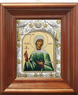 Мученица Дария, икона в ризе артикул 41561 - вид в киоте