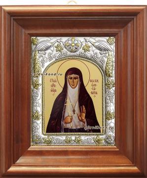 Елисавета, икона в ризе артикул 41514 - вид в киоте