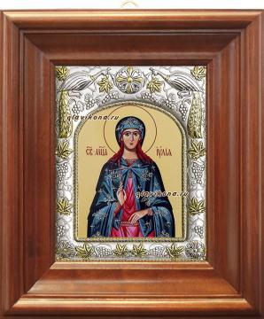Иулия (Юлия) Карфагенская, икона в ризе артикул 41541 - вид в киоте
