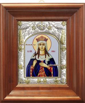 Ирина Македонская, икона в ризе артикул 41557 - вид в киоте
