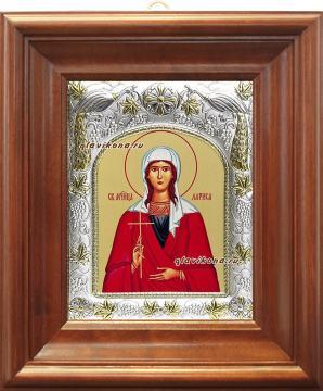 Лариса Готфская, икона в ризе артикул 41929 - вид в киоте