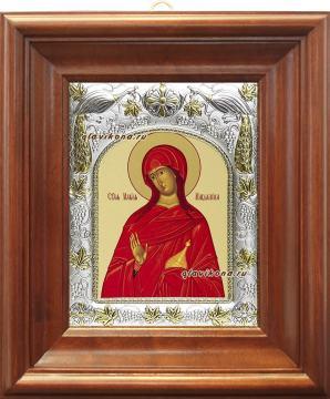 Мария Магдалина, икона в ризе артикул 41419 - вид в киоте