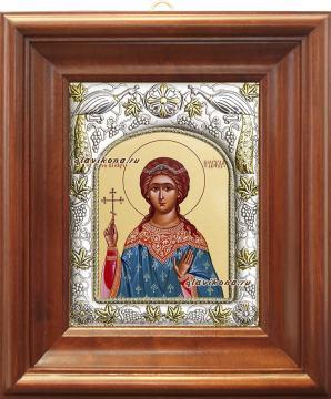 Надежда Римская, икона в ризе артикул 41562 - вид в киоте