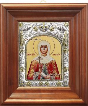 Наталия Никомидийская, икона в ризе артикул 41599 - вид в киоте