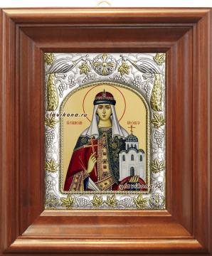 Княгиня Ольга, икона в ризе артикул 41446 - вид в киоте