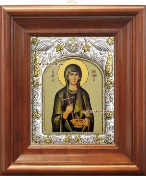 Параскева Римская, икона в ризе артикул 41920 - вид в киоте