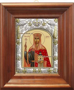 Царица Тамара, икона в ризе артикул 41422 - вид в киоте