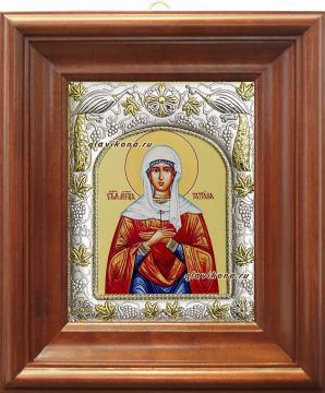 Татиана Римская, икона в ризе артикул 41598 - вид в киоте