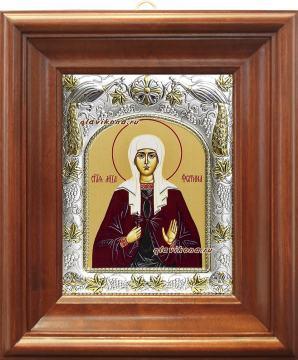 Светлана (Фотиния) мученица, икона в ризе артикул 41554 - вид в киоте