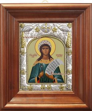 Серафима Римская, икона в ризе артикул 41962 - вид в киоте