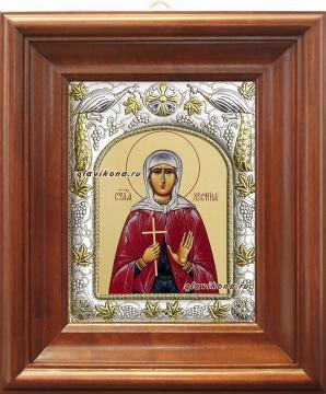 Христина (Кристина), икона в ризе артикул 41516 - вид в киоте