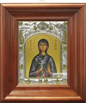 Антонина Никейская, икона в ризе, артикул 42804 - вид в киоте