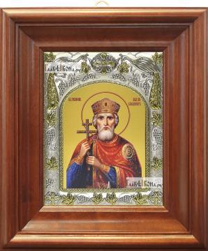 Владимир князь равноапостольный (живописный стиль), артикул 42807 - вид в киоте