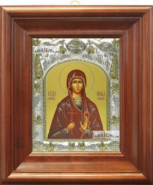 Ирина Коринфская, икона в ризе, артикул 42813 - вид в киоте