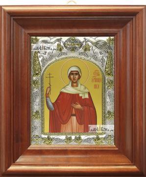 Ника Коринфская, икона в ризе, артикул 42821 - вид в киоте