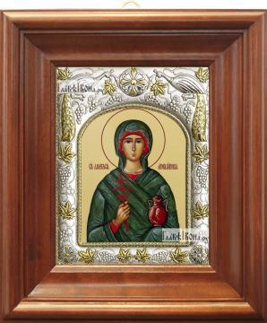 Анастасия Узорешительница, икона в ризе, артикул 42801 - вид в киоте
