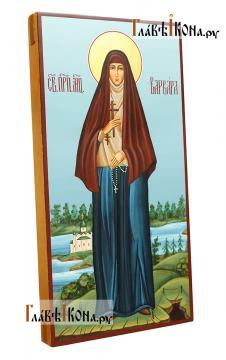 Варвара Алапаевская (с пейзажем), писаная икона - вид сбоку
