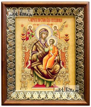 Всецарица Божия Матерь, икона на холсте в киоте-рамке