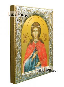 Иулия (Юлия) Карфагенская, икона в ризе классической - вид сбоку