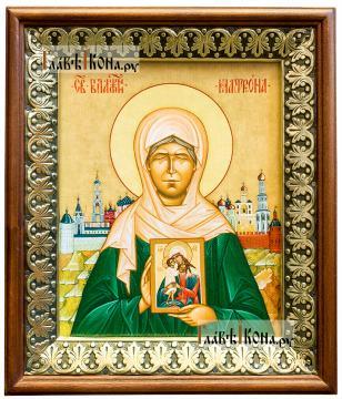 Матрона Московская, икона на холсте в киоте-рамке