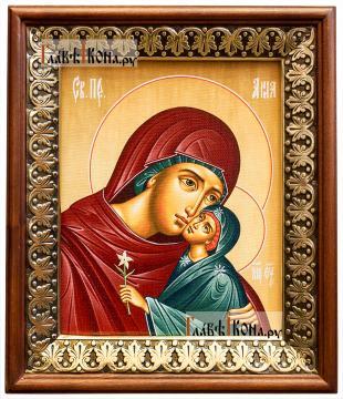 Праведная Анна, икона на холсте в киоте-рамке