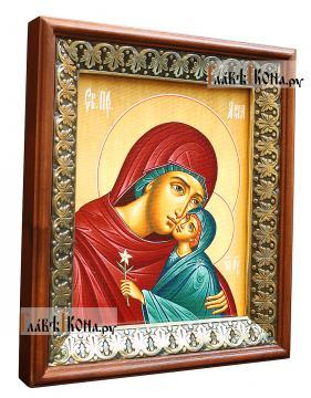 Праведная Анна, икона на холсте в киоте-рамке - вид сбоку