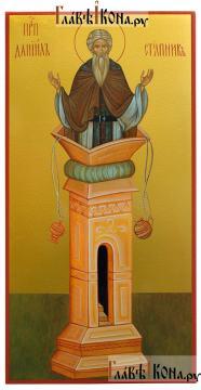 Даниил Столпник (ростовой), икона на доске, печать