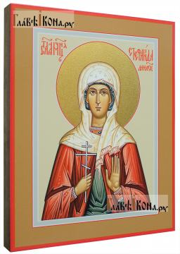 Стефанида Дамасская, икона на дереве печатная - вид сбоку