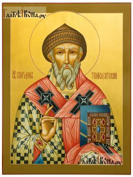Икона рукописная святого Спиридона, артикул 579