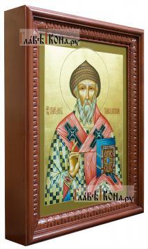 Икона рукописная святого Спиридона, артикул 579 - вид в киоте (отдельно на заказ)