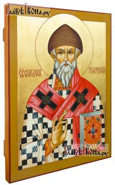 Икона Спиридона Тримифунтского, артикул 566 (вид сбоку)