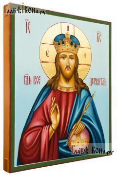 Образ Господа Вседержителя со скипетром и державой, икона артикул 629 (вид сбоку)