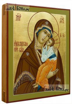 Ярославская Божия Матерь, рукописная икона на дереве, артикул 5337 - вид сбоку