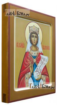 Рукописная икона святой Екатерины, артикул 6267 - вид сбоку