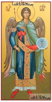 Гавриил архангел ростовой, печатная икона на дереве